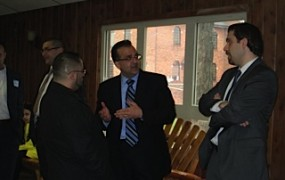 Mike Sareini involved in discussion with members of the Dearborn community